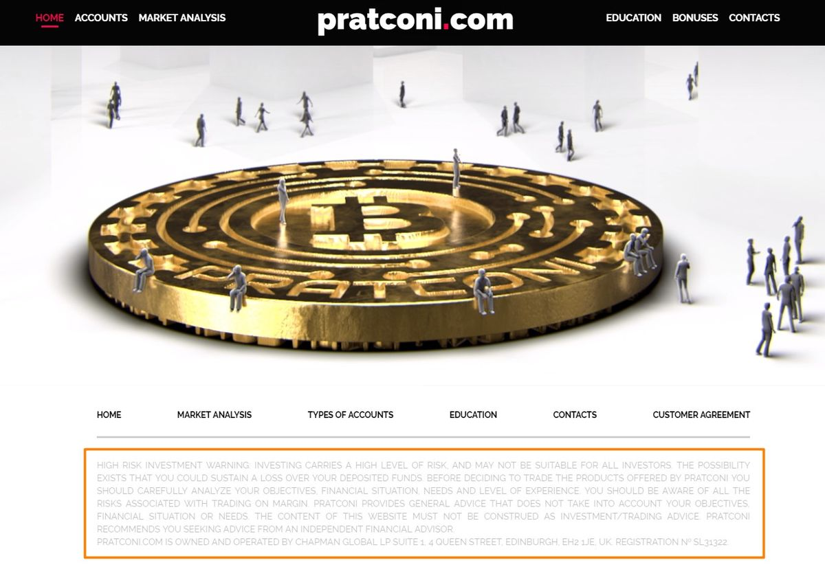 Pratconi: trading cryptocurrency carries great risks,