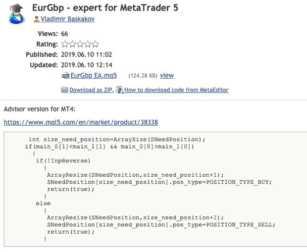 MetaTrader 5: how to install the trading advisor in the terminal