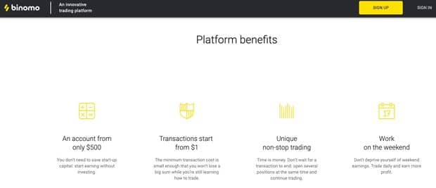 Binary options trading with Binomo