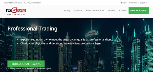 FXGiants – Is It A Scam? Trader Reviews