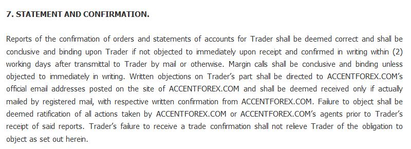 accentforex.com statement and confirmation
