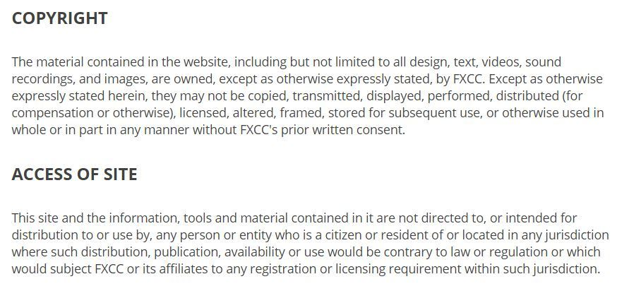 fxcc.com terms and conditions