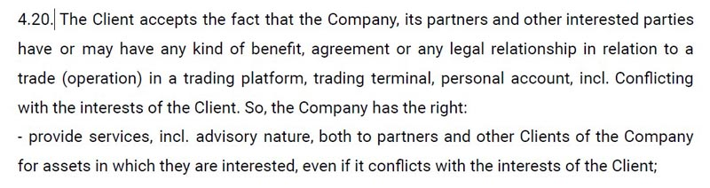 quotex.com termination of the contract